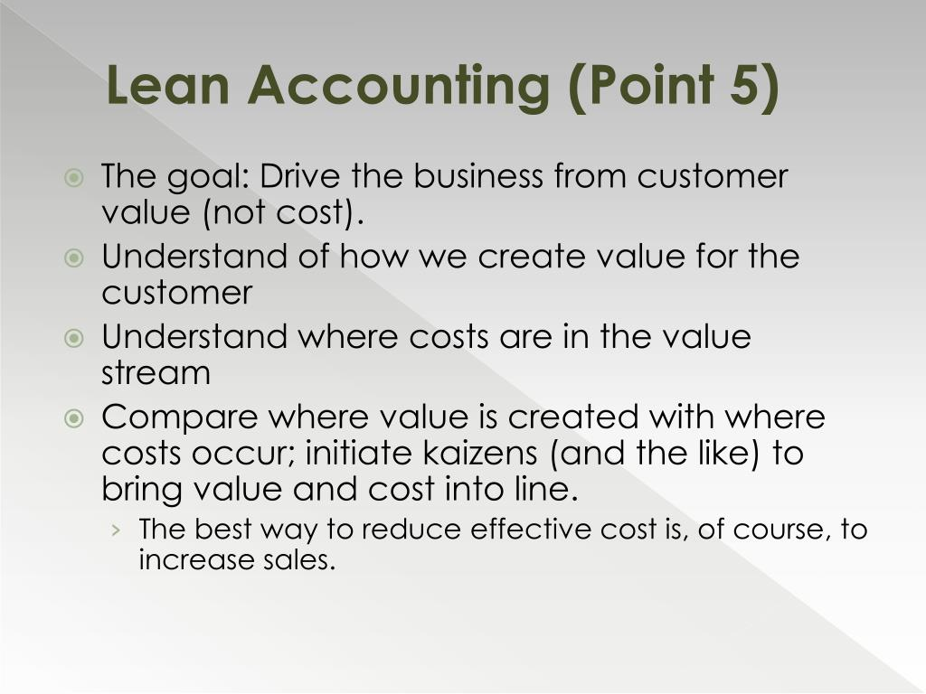 Lean Accounting (Point 5)