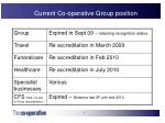 current co operative group position