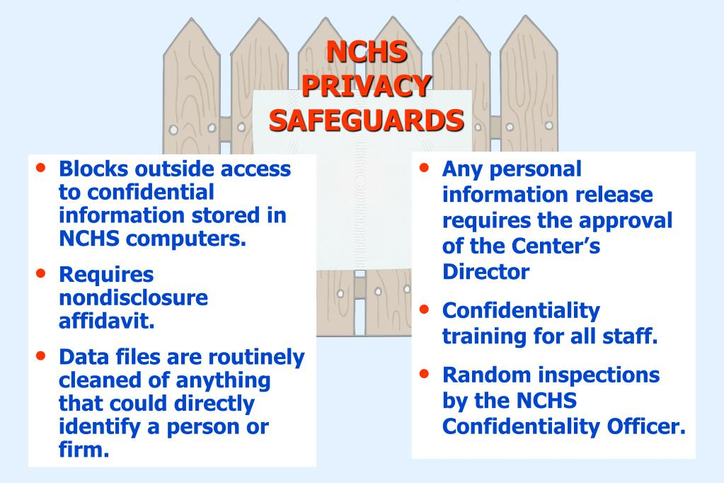 Blocks outside access to confidential information stored in NCHS computers.