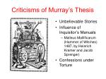 criticisms of murray s thesis