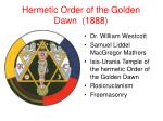 hermetic order of the golden dawn 1888