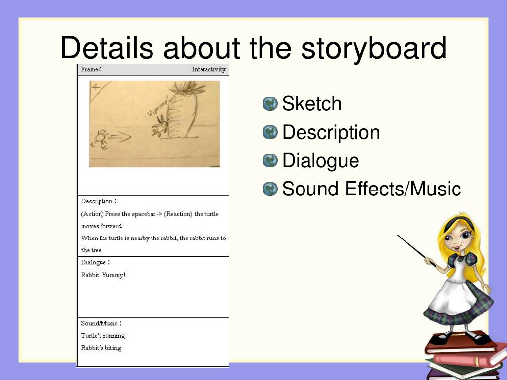 Details about the storyboard