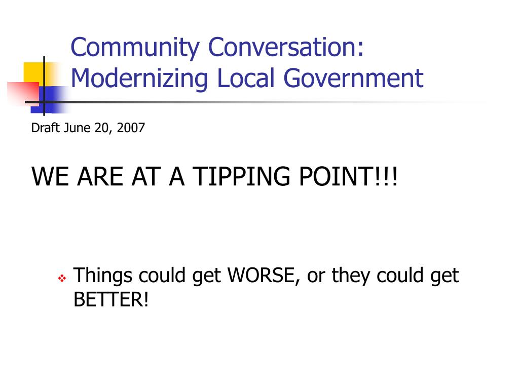 community conversation modernizing local government