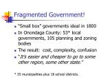 fragmented government