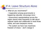 if a leave structure alone