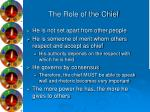the role of the chief