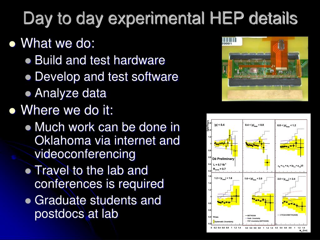 Day to day experimental HEP details
