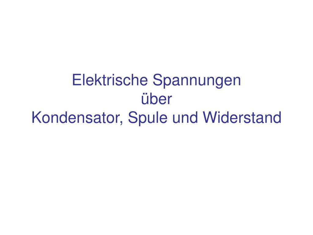 Ziemlich Symbol Für Widerstand Und Kondensator Galerie - Die Besten ...