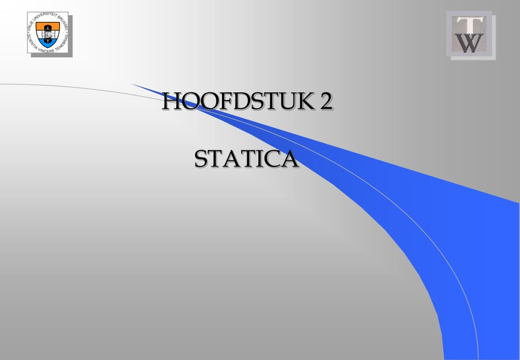 hoofdstuk 2 statica