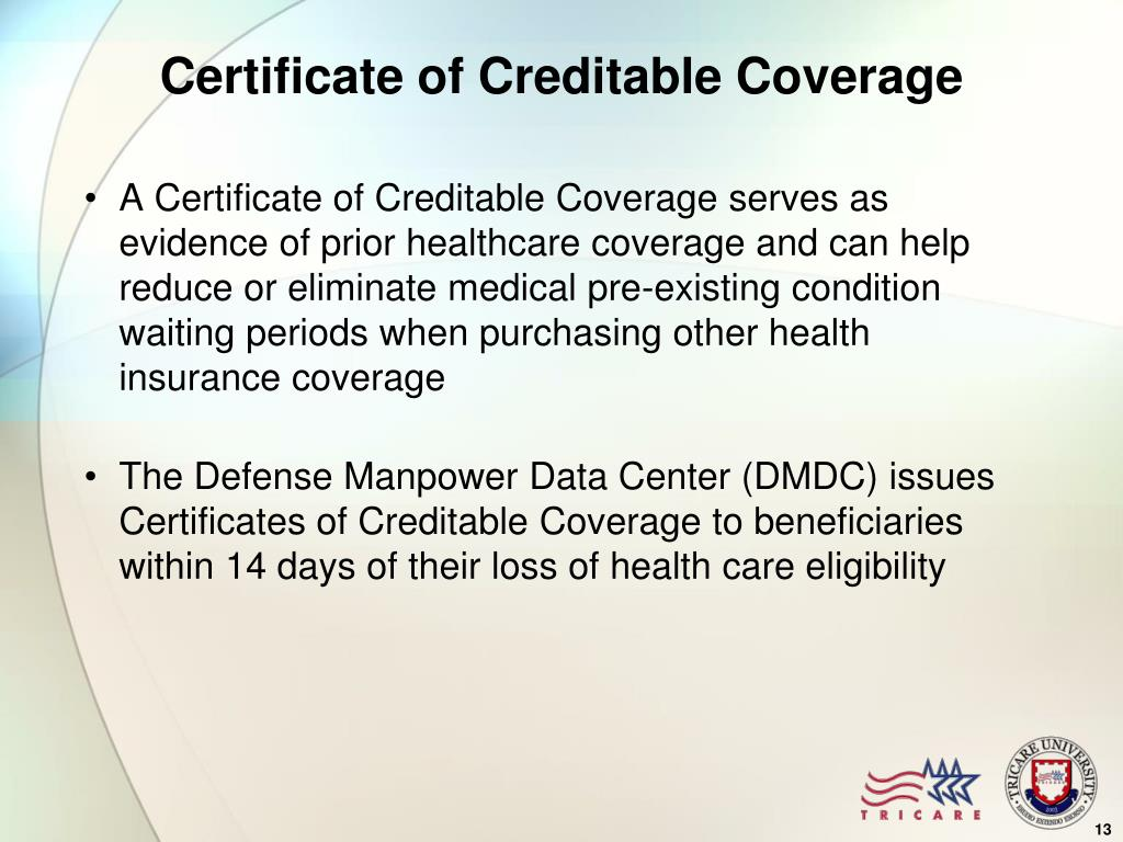Certificate of Creditable Coverage