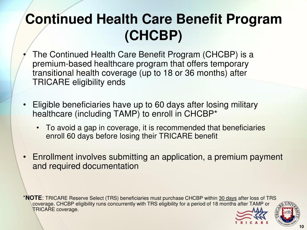 Continued Health Care Benefit Program (CHCBP)