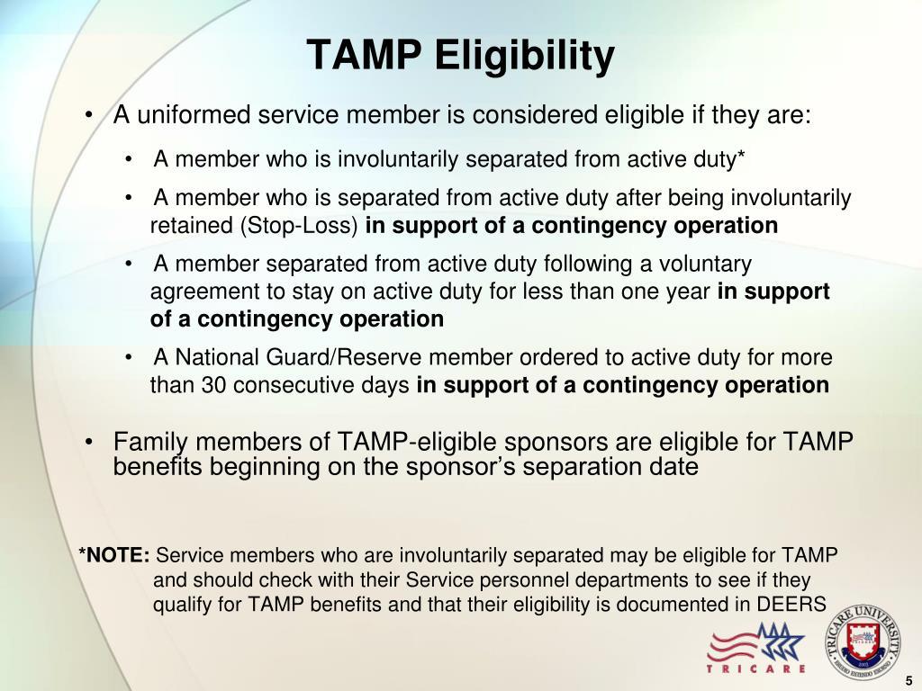 TAMP Eligibility