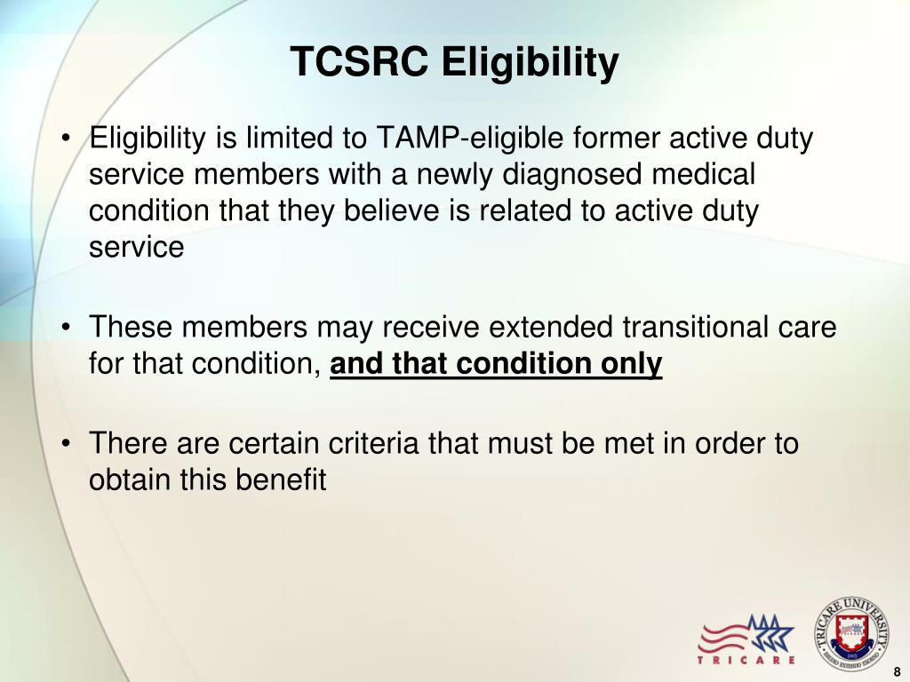 TCSRC Eligibility