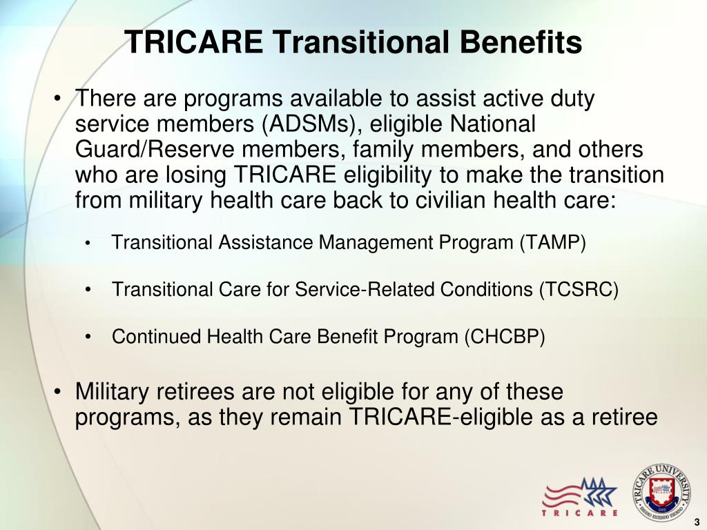 TRICARE Transitional Benefits