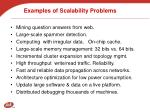 examples of scalability problems