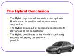 the hybrid conclusion