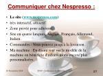 communiquer chez nespresso27