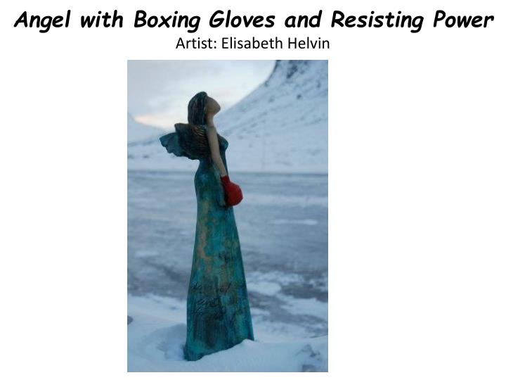 Angel with Boxing Gloves and Resisting Power