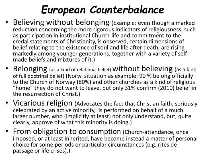 European Counterbalance