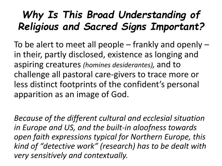 Why Is This Broad Understanding of Religious and Sacred Signs Important?