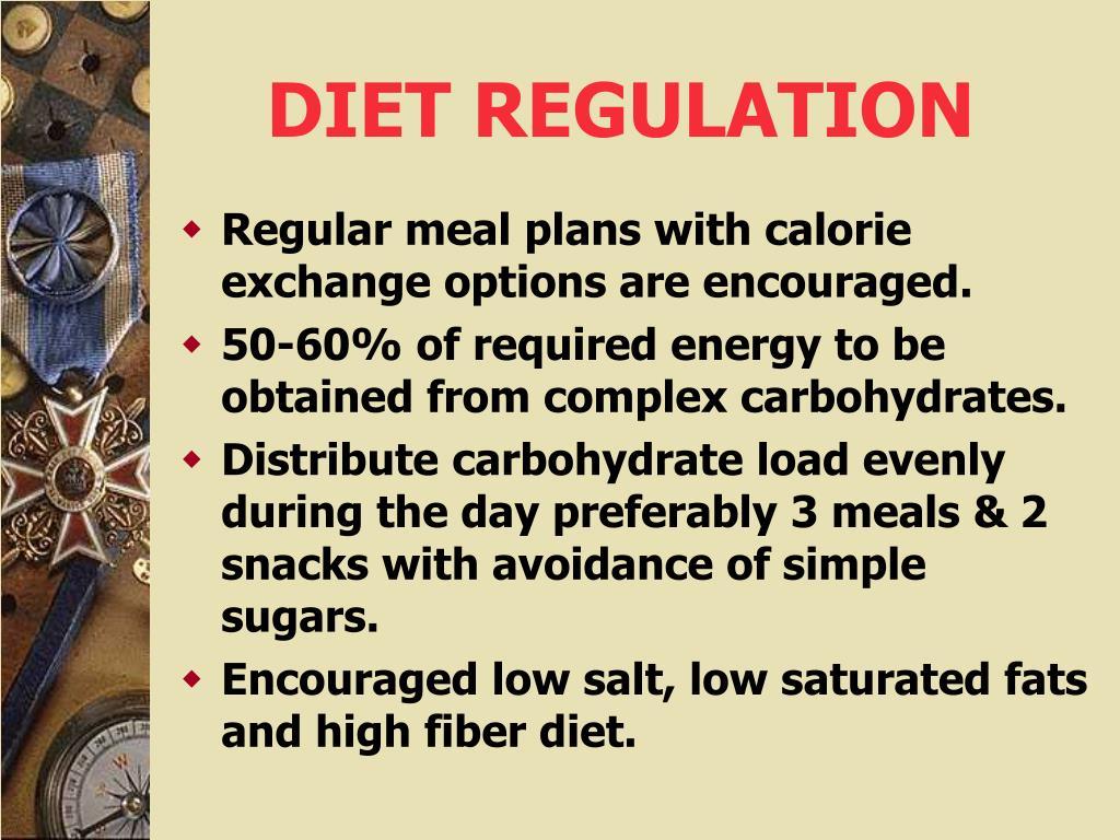 DIET REGULATION