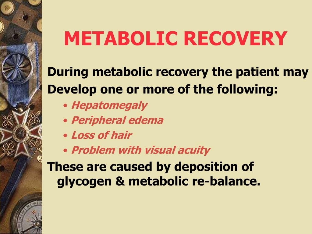METABOLIC RECOVERY