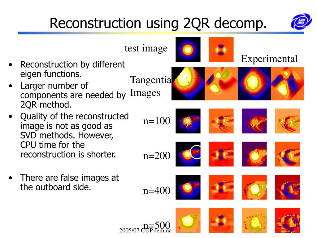 Reconstruction using 2QR decomp.