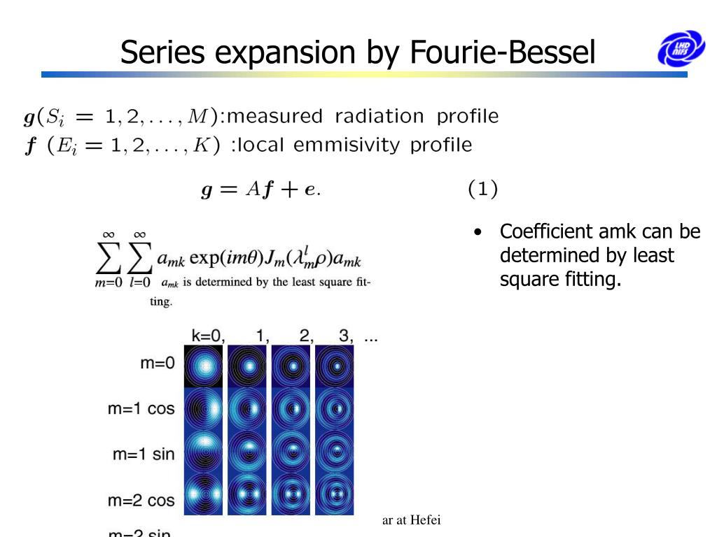 Series expansion by Fourie-Bessel