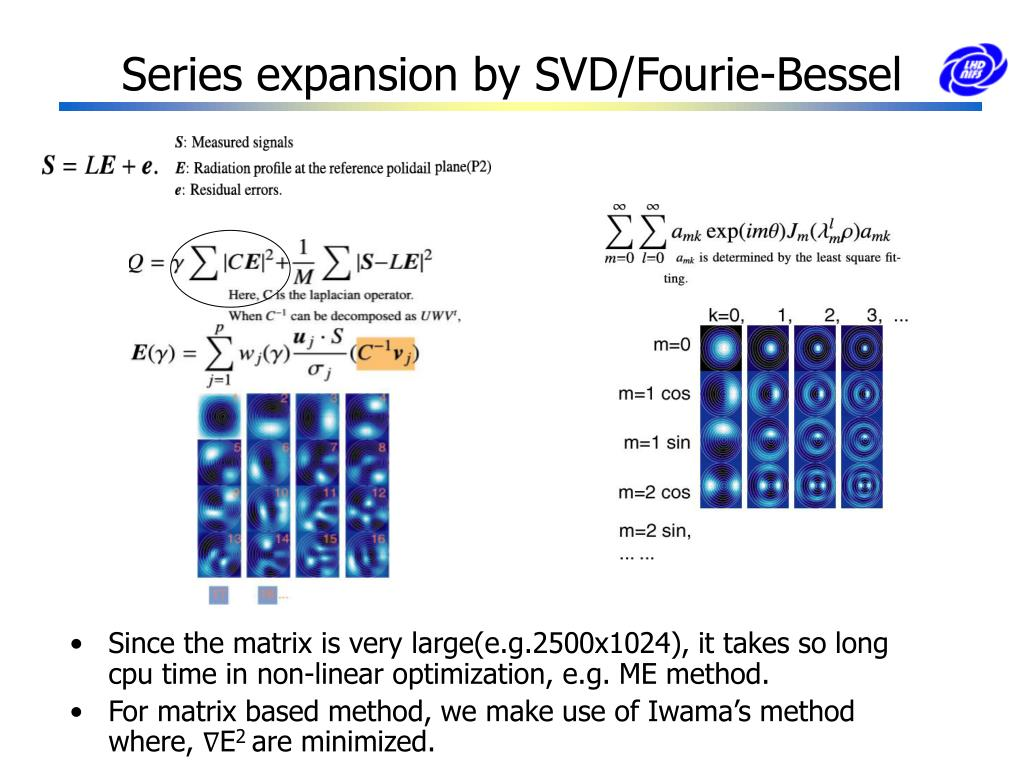 Series expansion by SVD/Fourie-Bessel
