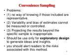 convenience sampling15