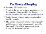 the history of sampling6