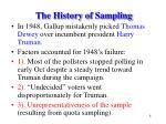 the history of sampling8