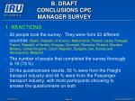 b draft conclusions cpc manager survey10