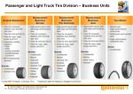 passenger and light truck tire division business units