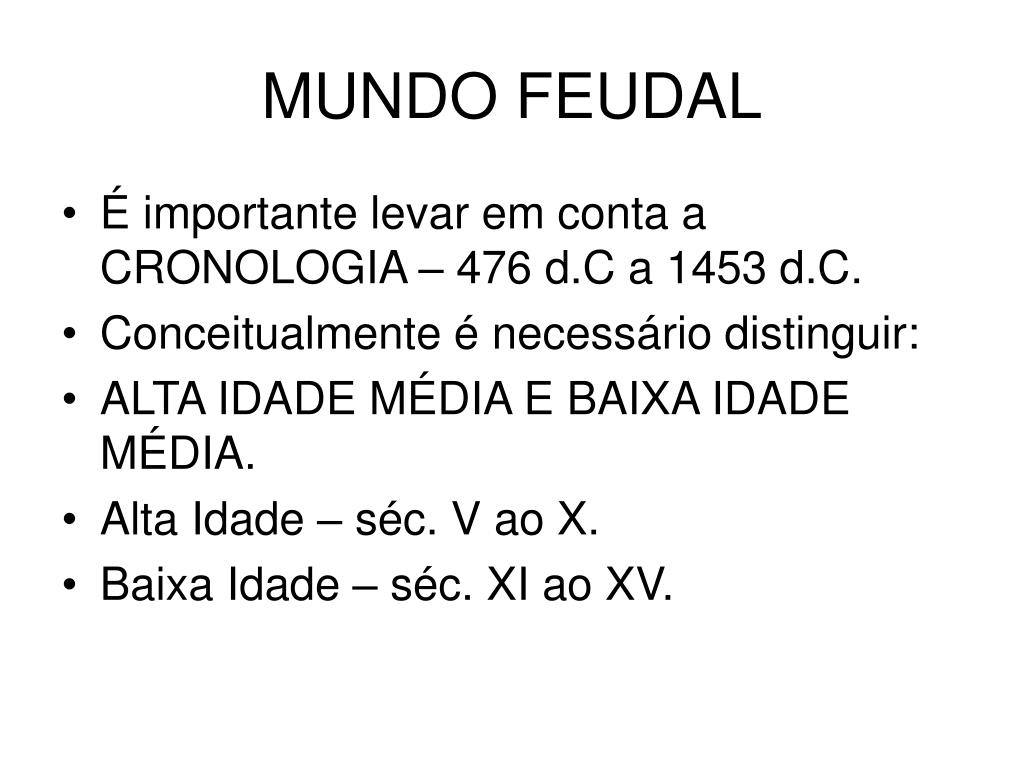 mundo feudal l.