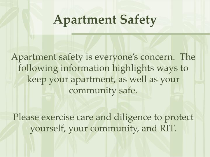 Apartment safety2