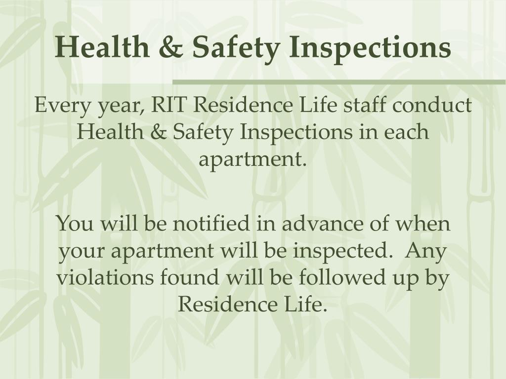 Health & Safety Inspections
