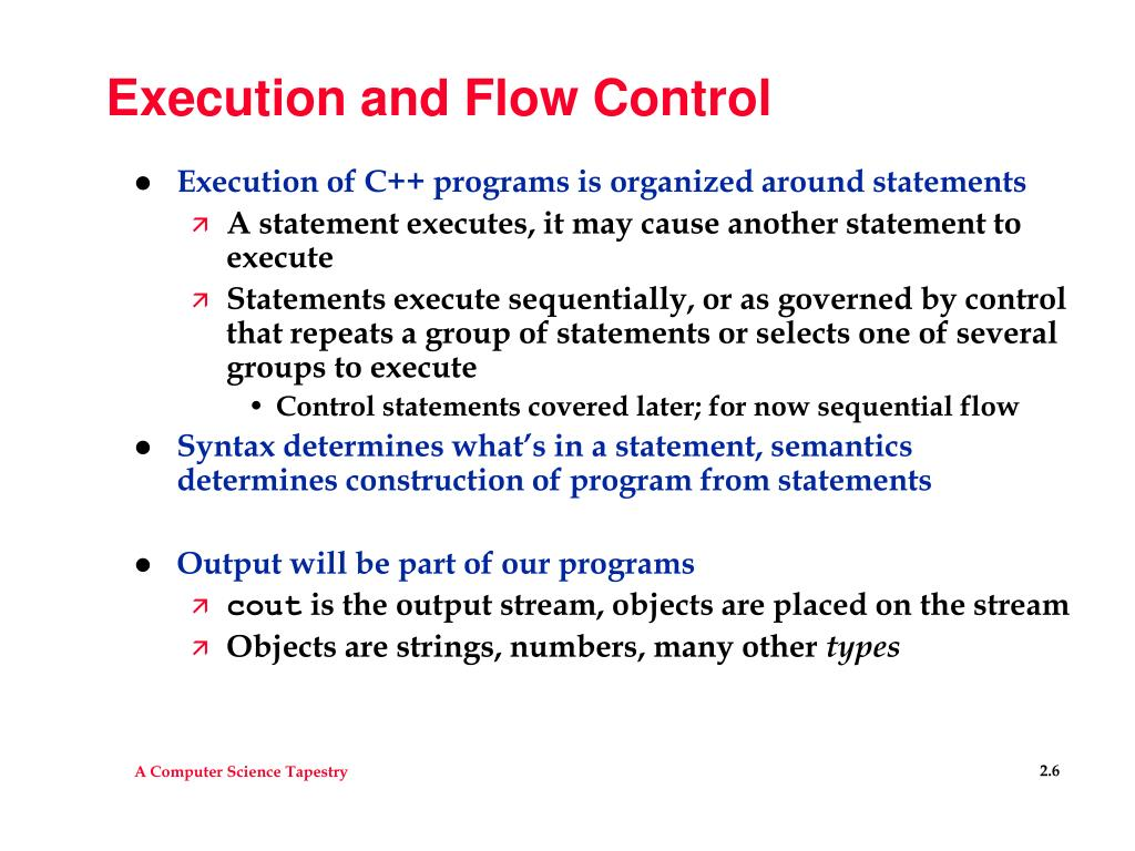 Execution and Flow Control