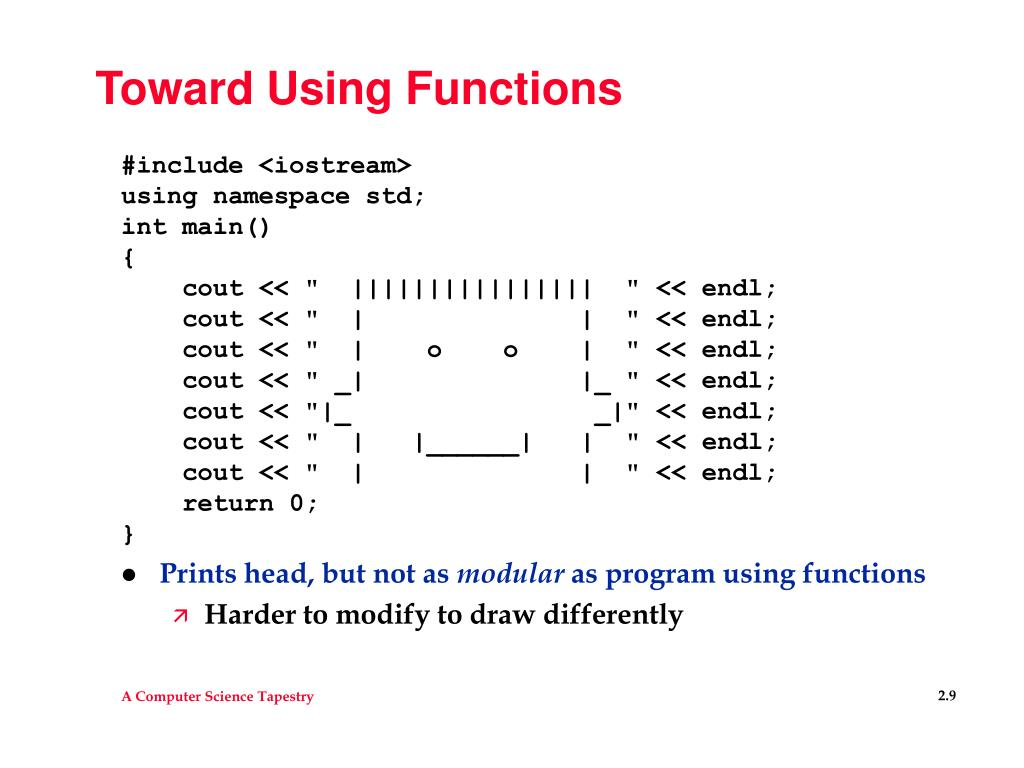 Toward Using Functions