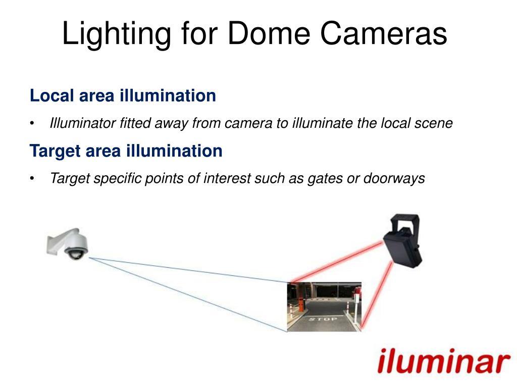 Lighting for Dome Cameras