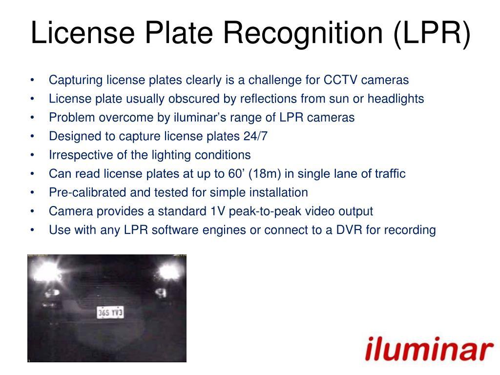 License Plate Recognition (LPR)
