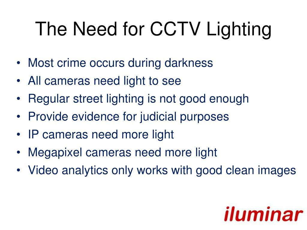 The Need for CCTV Lighting