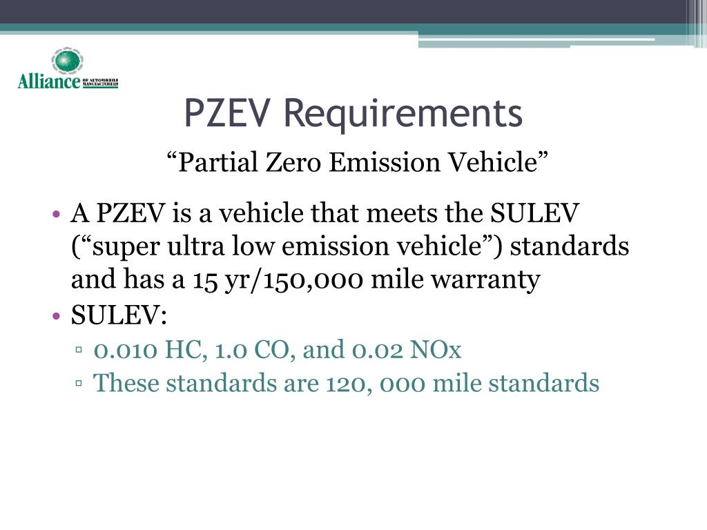 PZEV Requirements