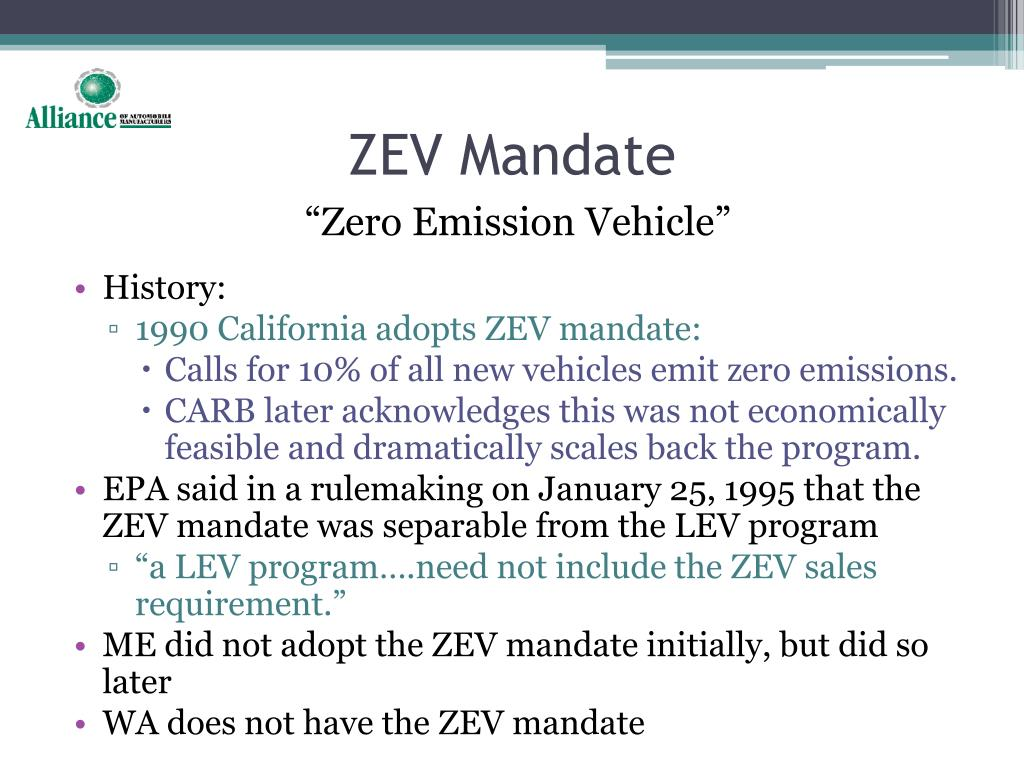 ZEV Mandate