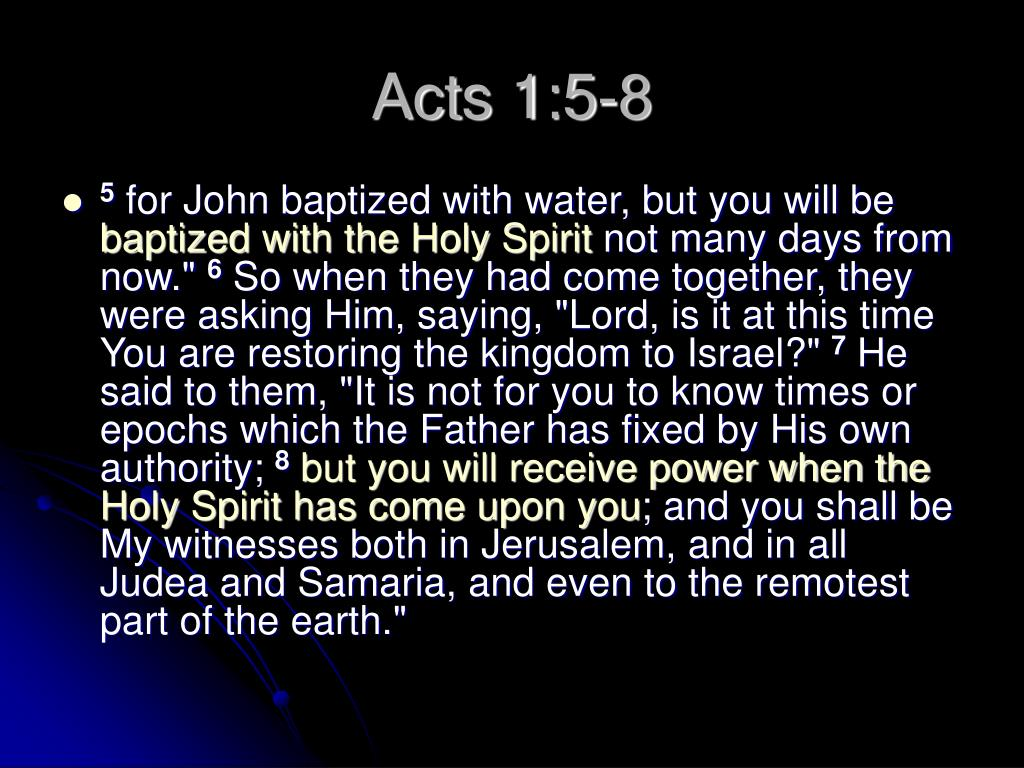Acts 1:5-8