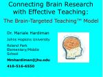 connecting brain research with effective teaching