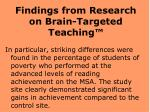 findings from research on brain targeted teaching20