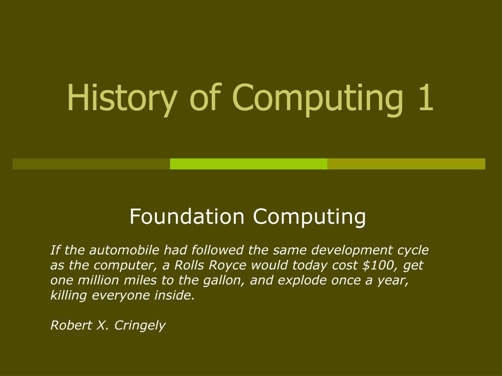 history of computing 1 l.