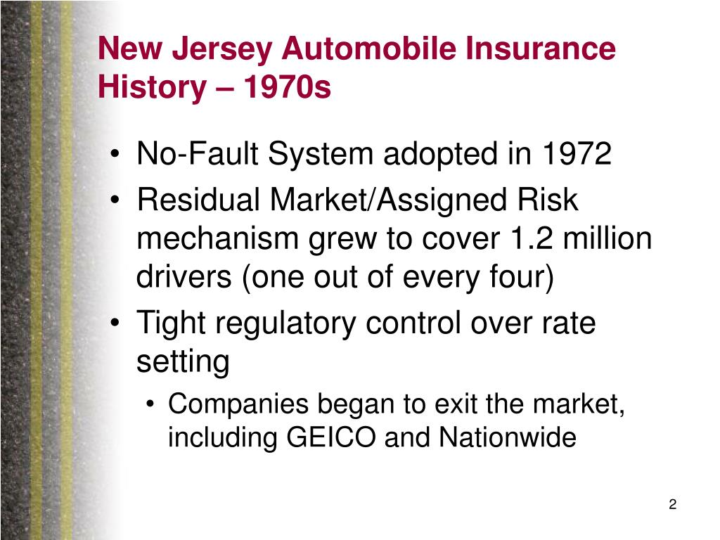 New Jersey Automobile Insurance History – 1970s