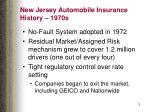 new jersey automobile insurance history 1970s